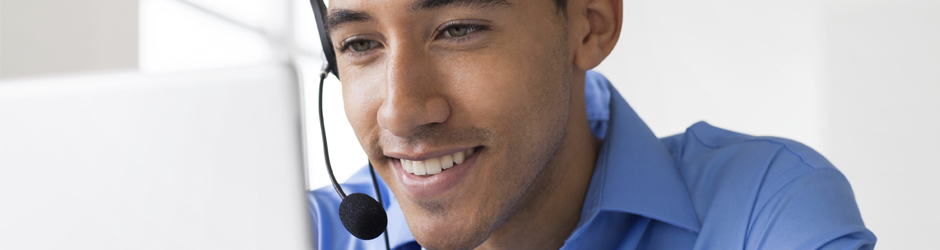 call center employee providing concierge services