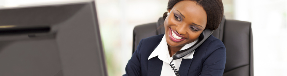 business woman on phone, seeking work-life balance