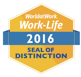 World at Work Alliance for Work-Life Progress 2016 Seal of Distinction